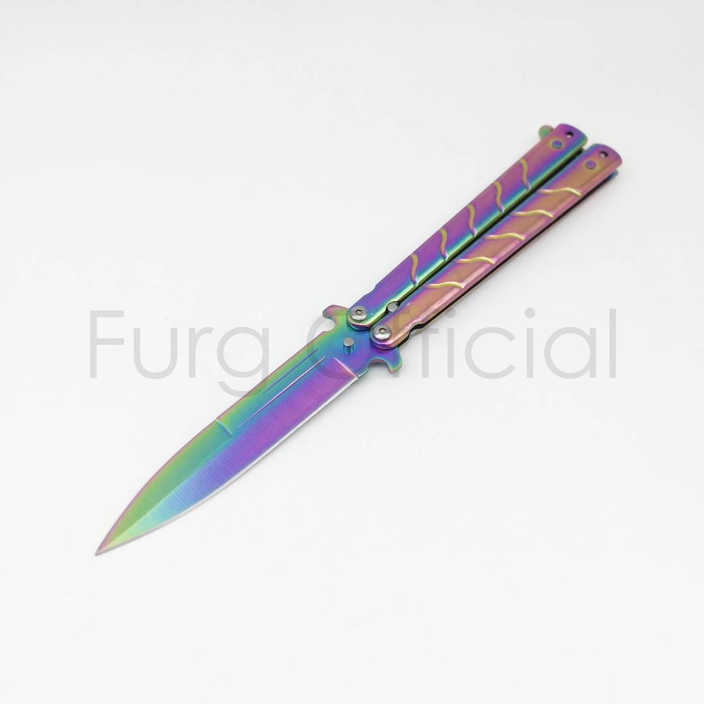 Furg 0010100006 มีดBalisong มีดบาลิซอง มีดควง มีดผีเสื้อ ใบแหลมและคม