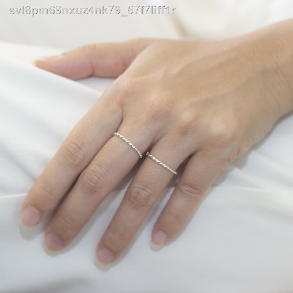 🔥มีของพร้อมส่ง🔥ลดราคา🔥♛❡✸Beauty Jewelry ผู้หญิงแหวนเงินแท้แหวนแหวนมินิมอล 925 Silver รุ่น RS3044-RR แป้งทองคำขาว