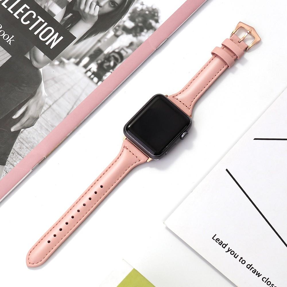 HOT สีใหม่!!🔥สายสำหรับ Apple Watch แบบ หนัง 38/40, 42/44 mm. Series 6 /5/4/3/2/1 series SE สาย applewatch