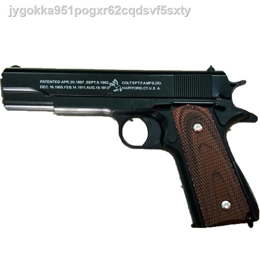 กีฬายิงปืน☑♂◆Bank Ts ปืนเหล็กพังบีบอัดลมสั้นแม็กเหล็กง้างนกได้ช่องมีหลายรอบล้อคสไลค์ได้พร้อมปืนบี 300 นัด C.1911A