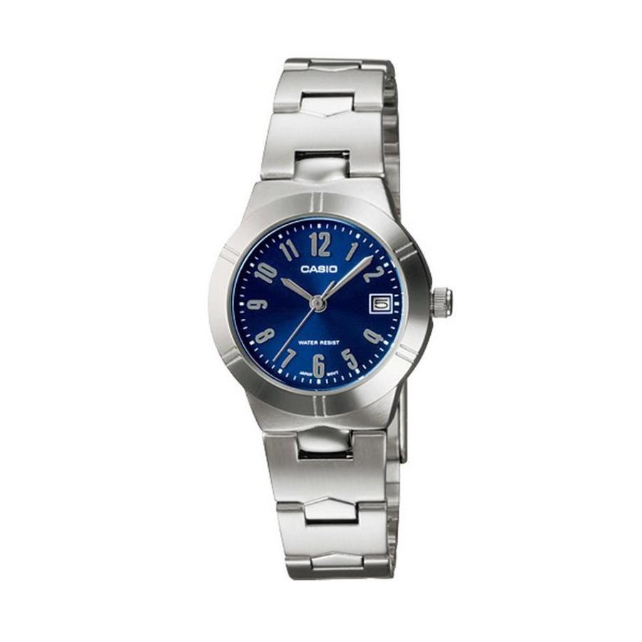 Casio Standard นาฬิกาข้อมือผู้หญิง สายสแตนเลส รุ่น LTP-1241D-2A2 (CMG) - สีเงิน