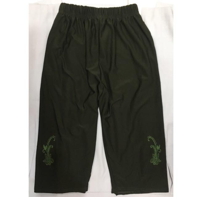 กางเกงคนแก่ เอวยืด 4ส่วน ผ้าเกาหลี