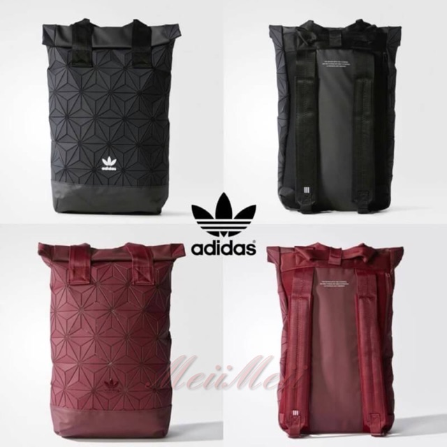 🎉🎒Adidas Originals BP Roll Top 3D Mesh 2017 Black Backpack Bag DH0100