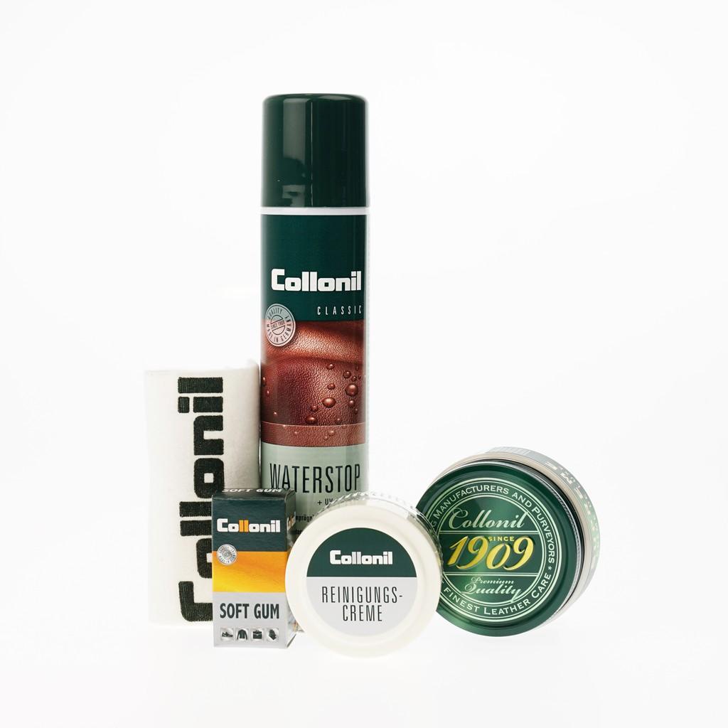 Collonil Genuine Leather Set_1 โคโลนิลเซ็ทน้ำยาดูแลรักษาสำหรับหนังแท้_1 สำหรับรองเท้าและกระเป๋า