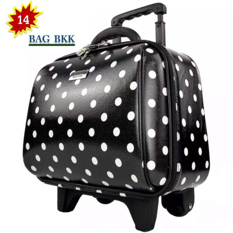 BAG BKK Luggage กระเป๋าเดินทางล้อลาก Wheal คุณภาพดี 14 นิ้ว 2 ล้อ Code F7719-14Dot