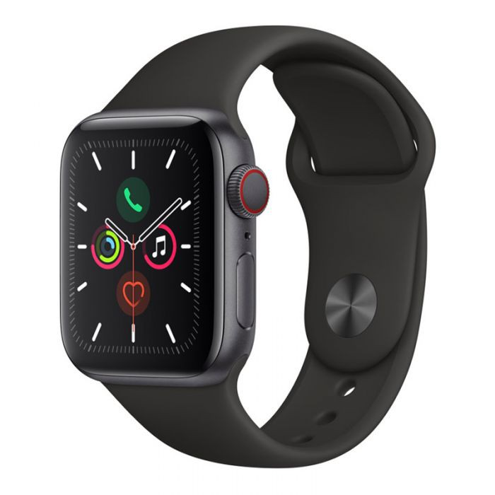 "APPLE WATCH SERIES 5 GPS+CELLULAR 40MM SPACE GREY ALUMINIUM CASE WITH BLACK SPORT BAND ""ผ่อน 0%10 เดือน"" เครื่องศูนย์แท้"