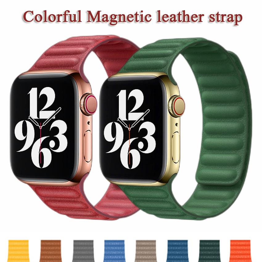 สายนาฬิกาข้อมือหนังวัวแท้สําหรับ Apple Watch Band 44 มม . 40 มม . 42 มม . 38 มม . Iwatch Apple Watch Series 6 5 4 3 2 1