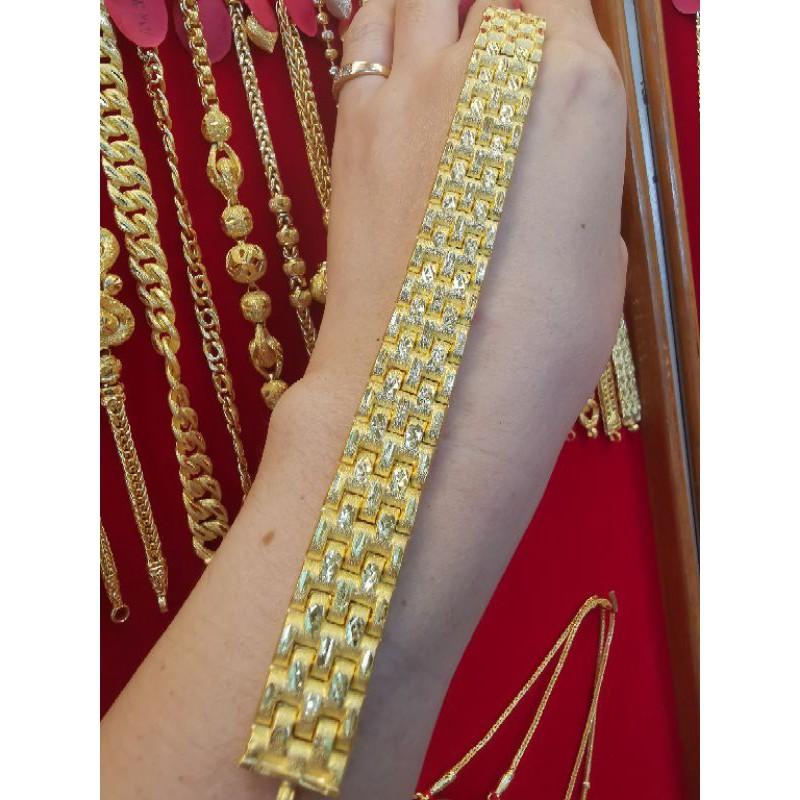 สร้อยมือทองแท้ 96.5%  น้ำหนัก 2บาท ยาว  17.5cm ราคา 57,000บาท