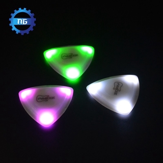 [New]ZORY Pressed LED Lighting Guitar Pick, Three Thicknesses 0.6MM-0.8MM-1.00MM Luminous Guitar Pick Playing Guitar Aaccessories 1