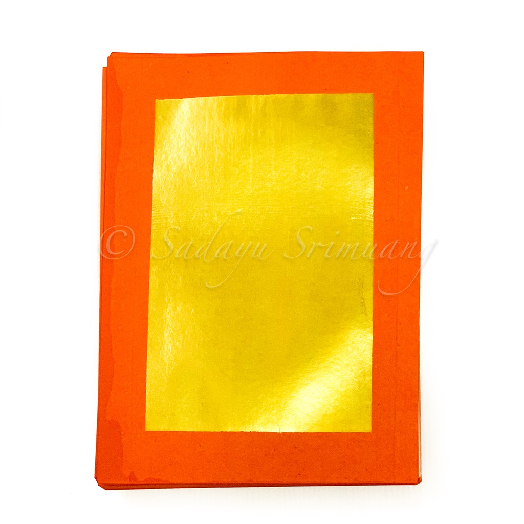 กระดาษไหว้เจ้า ตั่วกิม 4A ตราไผ่แดง ทองอย่างดี ทองไม่ปลิวหลุด ราคาส่ง 13 บาท
