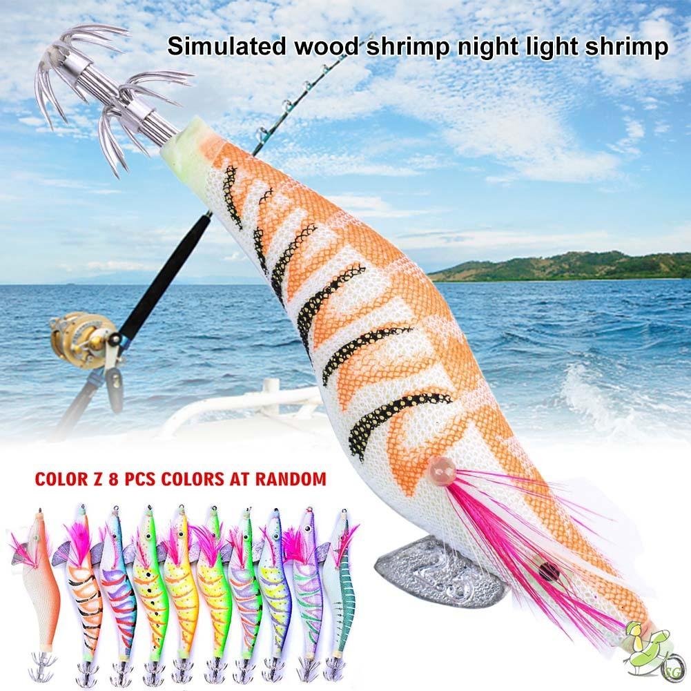 Worm Fishing Lure Soft Bait Silicone Crawfish Night Lures Jig Fishing 8pcs//lot