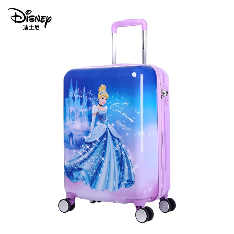 ぴㇼ กระเป๋าเดินทางล้อลาก กระเป๋าเดินทางล้อลากใบเล็กดิสนีย์เด็กรถเข็นกระเป๋าผู้หญิงล้อสากลเด็กการ์ตูนเจ้าหญิงกระเป๋าเดินทา