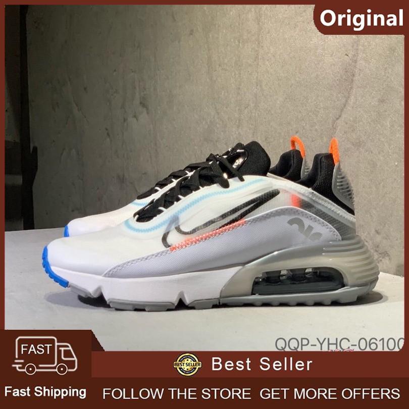 รองเท้าผ้าใบ Nike Air Max 2090 ของแท้ 100% รองเท้ากีฬา (สีขาว 2)