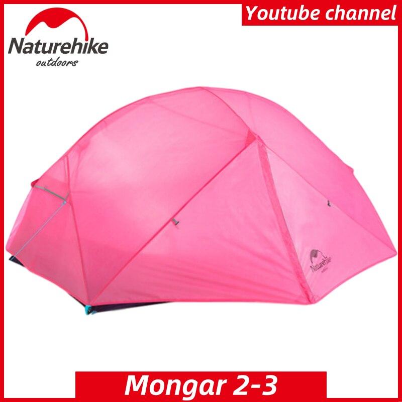 NatureHike Mongar Campingเต็นท์2คนUltralight 210Tโพลีเอสเตอร์อลูมิเนียมPole Double Layerเดินป่ากลางแจ้งแฟชั่น