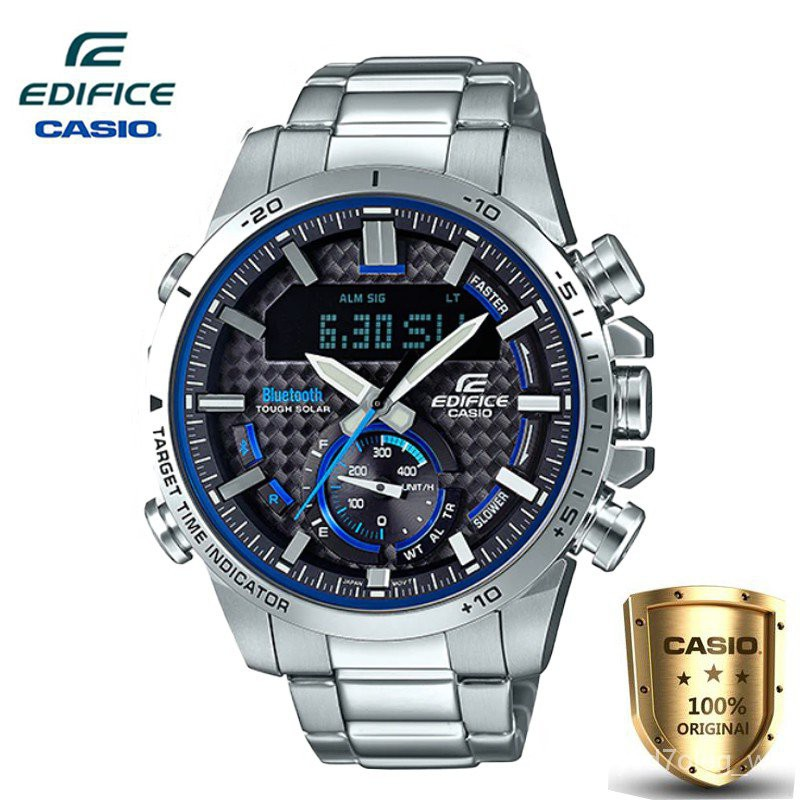 Casio Edifice LIMITED EDITION นาฬิกาข้อมือผู้ชาย สายสแตนเลส รุ่น ECB-800D-1A(ของแท้100%)