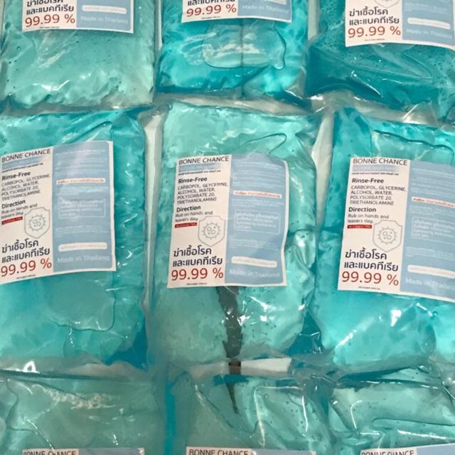 เจล เจลล้างมือ เจลแอลกอฮอล เจลแอลกอฮอล์ล้างมือ เจลชนิดถุงเติมขนาด 1000 ml [Bonne Chance]