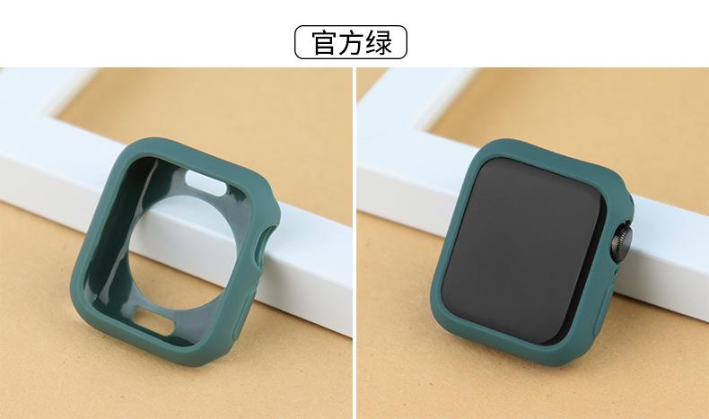 เคส Apple Watch เคสซิลิโคนแบบนิ่มสำหรับ Apple Watch Series 6 SE 5 4 3 2 1 44mm 40mm 42mm 38mm Apple Watch Case pSVV