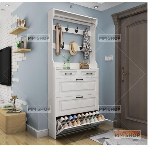 ตู้รองเท้า, ฝุ่น, กันน้ำ, ชั้นวางรองเท้า, ประหยัดพื้นที่ตู้รองเท้า 3 ชั้น, ตู้รองเท้าบ้านที่เรียบง่าย