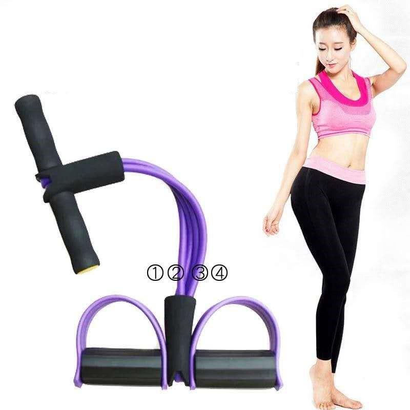 ✅✅✅⚡ ถูกและดี ⚡ ยางดึงออกกำลังกาย สายแรงต้าน ยางยืดออกกำลังกาย ชุดยางยืดออกกำลังกายเท้าเหยียบ (สายแรงต้าน 4 เส้น)✅ daMZ