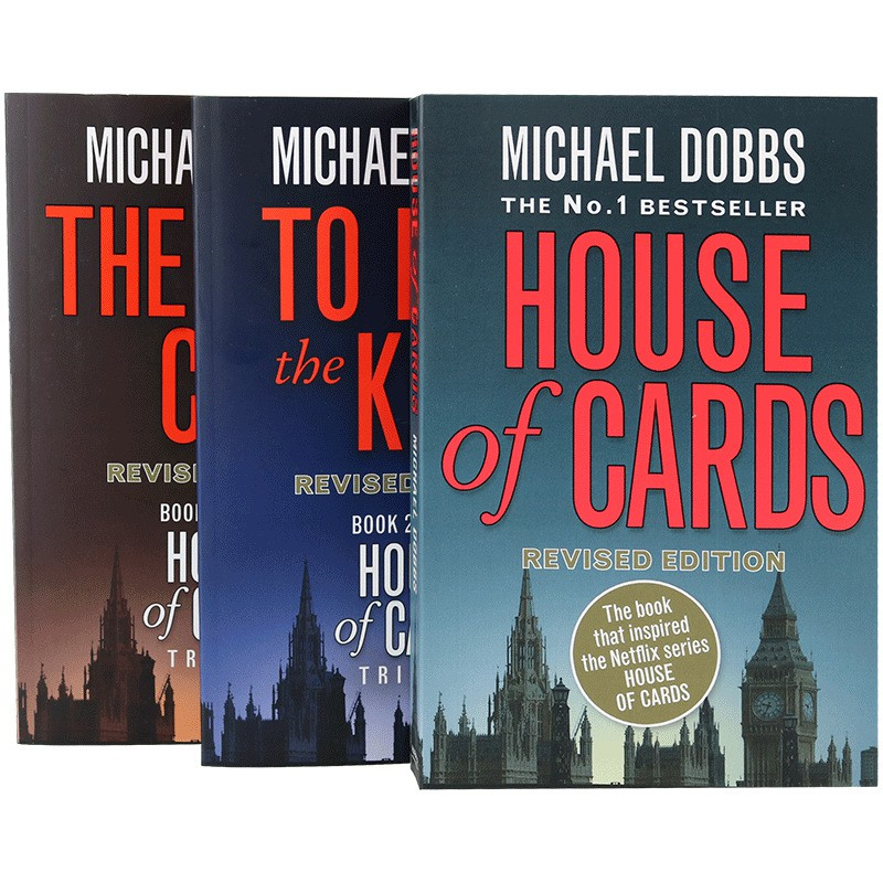 การ์ดคําศัพท์ภาษาอังกฤษของแท้ House Of Cards 1-3 Books Full