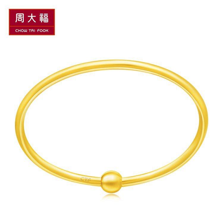 Gold braceletโจว Dafu เครื่องประดับเครื่องประดับแต่งงานที่เรียบง่ายเท้าทองสร้อยข้อมือราคาF209976