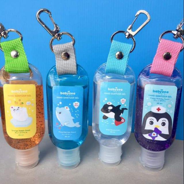 เจลล้างมือ Babyzea Limited edition มีที่ห้อยติดกระเป๋า ขนาด 49 ml