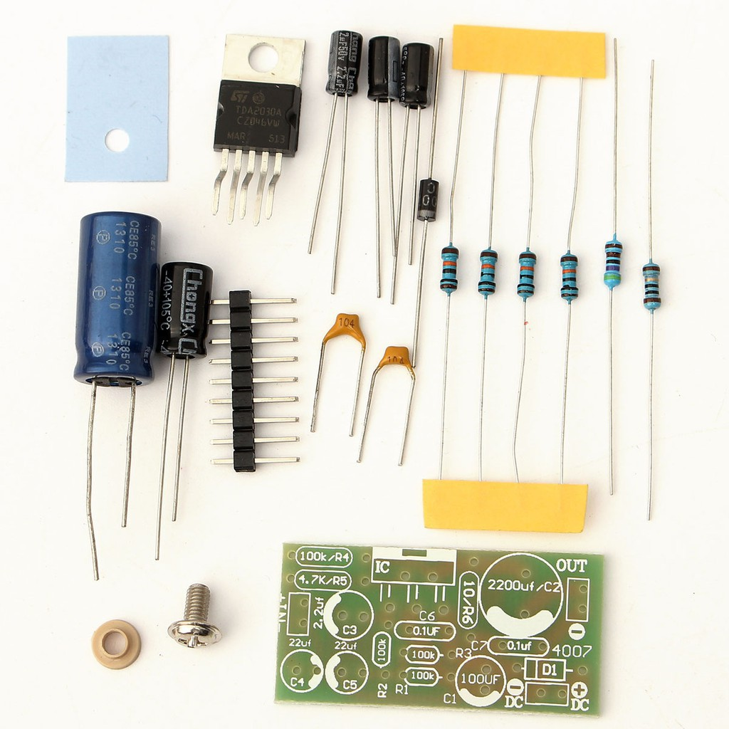 TDA2030A Electronic Audio Power Amplifier Board DIYMono 18W DC 9-24V Kit