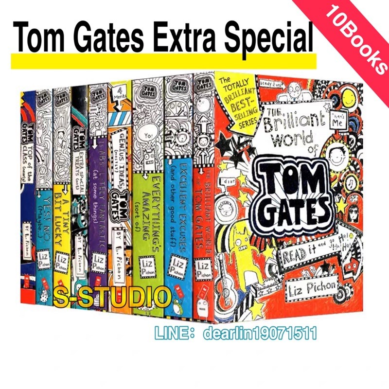 Tom Gates Pack Books 1-10 Series 10 Books Collection Set By Liz Pichon