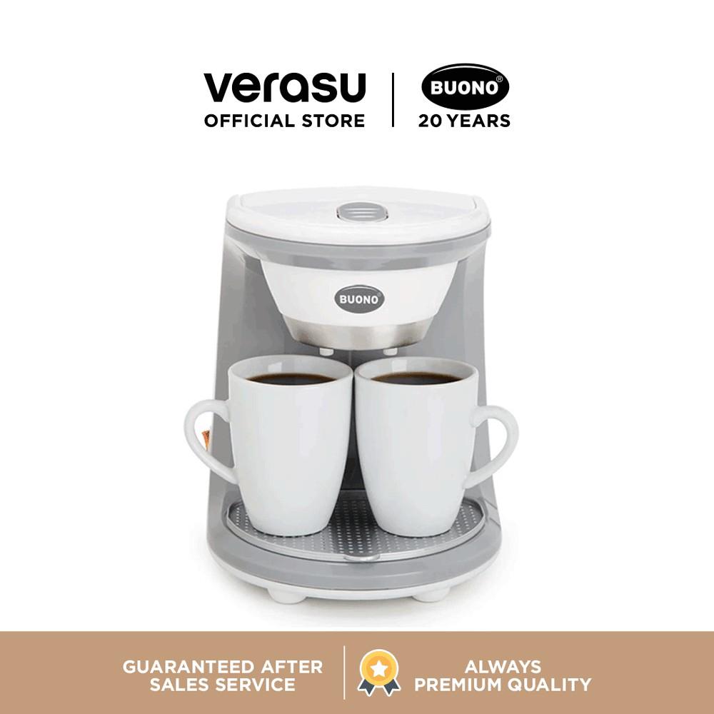 BUONO เครื่องชงกาแฟ 2 ถ้วย รุ่น BUO-252312 เครื่องชงกาแฟ เครื่องทำกาแฟ