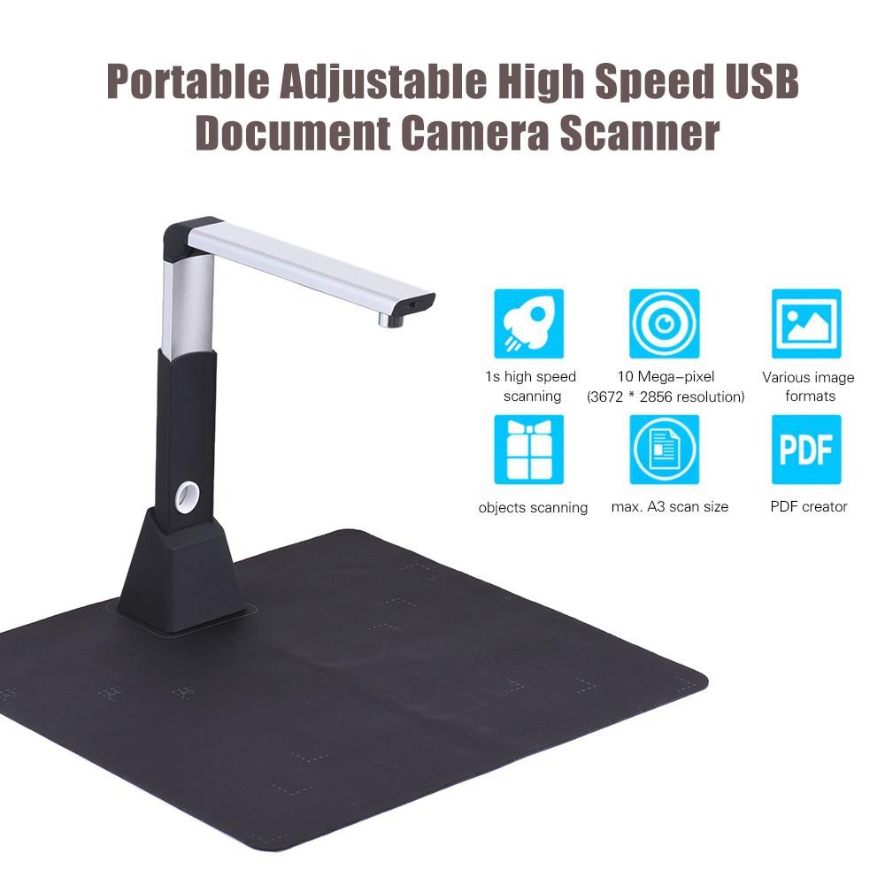Portable Adjustable High Speed USB Book Image Document Camera Scanner 10 Me