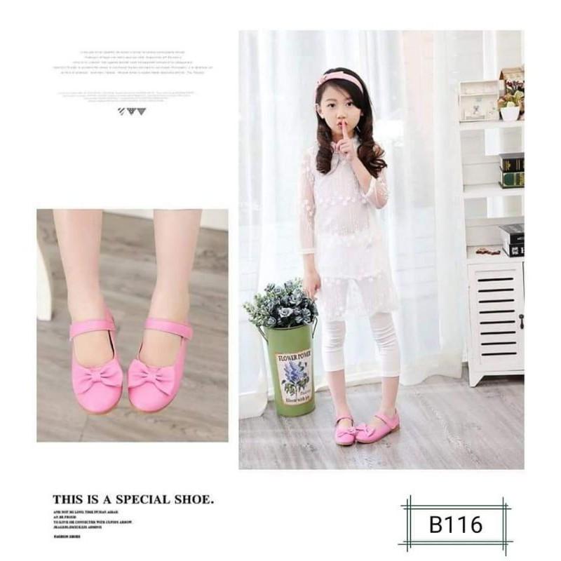 🔥💖🌟▨☄♟รองเท้าคัชชูเด็ก B117 รองเท้าออกงาน เด็กหญิง 21-32 พร้อมส่งจากไทย