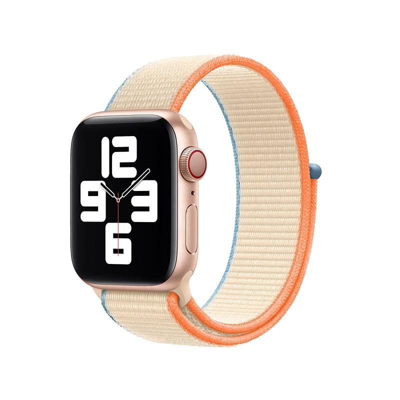 L&Y Lingyan สินค้าของแท้อย่างเป็นทางการสำหรับ applewatchSE6 Apple watch พร้อมห่วงไนลอนทอละเอียด Sports iwatch series 5/3