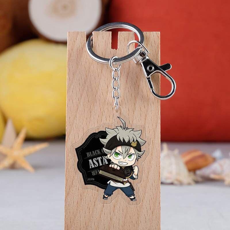 Black Clover Acrylic Keychain Cartoon Figure Asta Yuno Noell Silva Yami Sukehiro Magna Swing  Model Key Ring Christmas Gifts