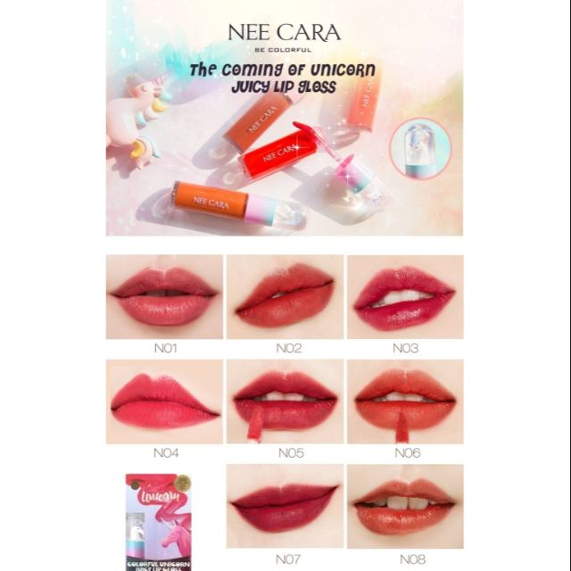 6 Unicorn Cara Gloss 5g Juicy Nee Lip