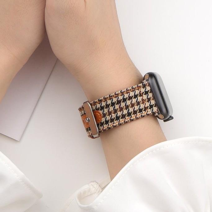 สายนาฬิกาข้อมือ Houndstooth Applewatch6 / 5 / 4se สําหรับ Apple Watch
