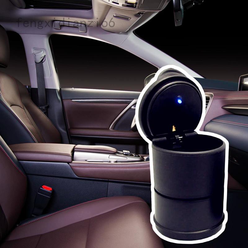 Portable Car Auto Ashtray Blue LED Light Smokeless Ashtray Cigarette Holder