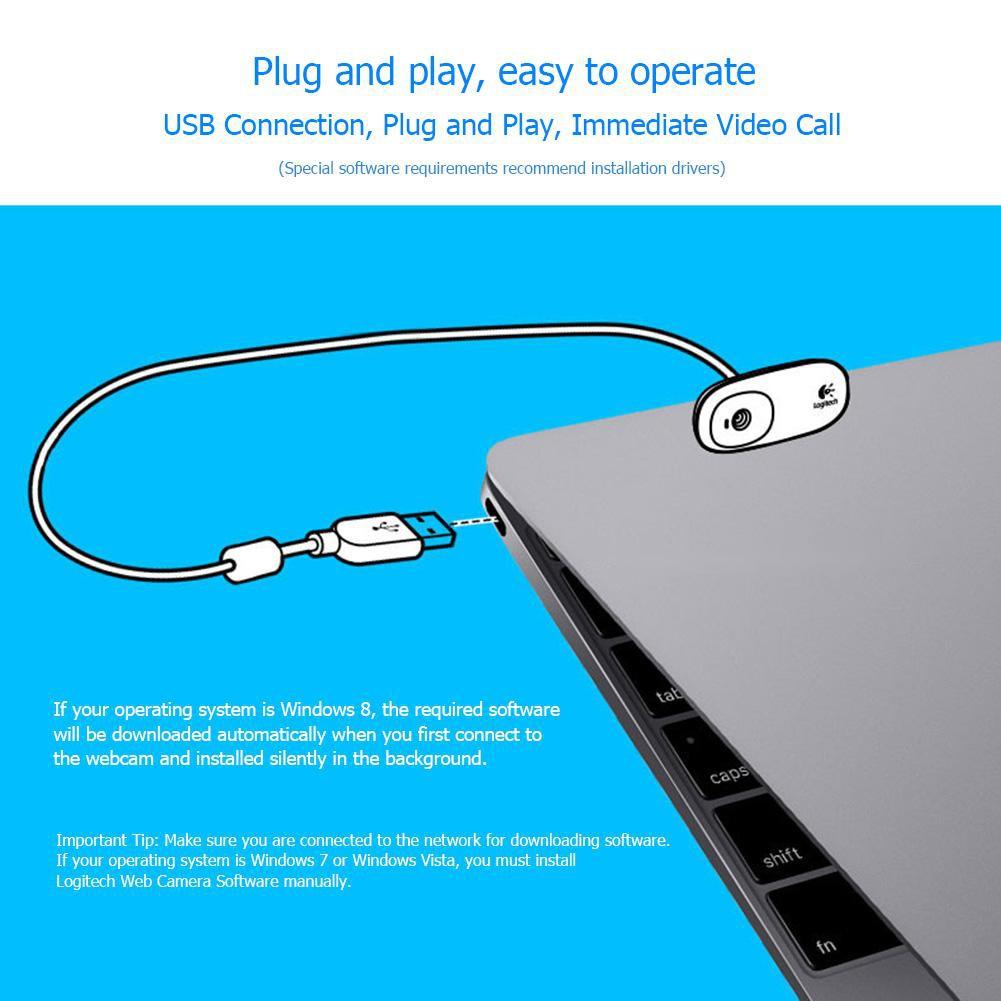 [IN STOCK/COD]Logitech C170 HD Webcam Fluid Crystal Video Call 5MP CMOS USB  Web Camera