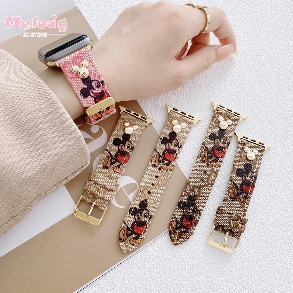 ใหม่สายนาฬิกาข้อมือสายหนังสําหรับ Applewatch Iwatch Series Se 6 5 4 3 2 1 Applewatch 38 40 42 44 มม.