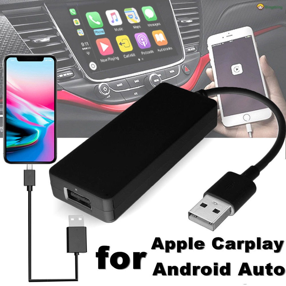 Usb Android เครื่องเล่นนําทางสมาร์ทเชื่อมต่อ Dongle สําหรับ Ios Apple Carplay Android Auto
