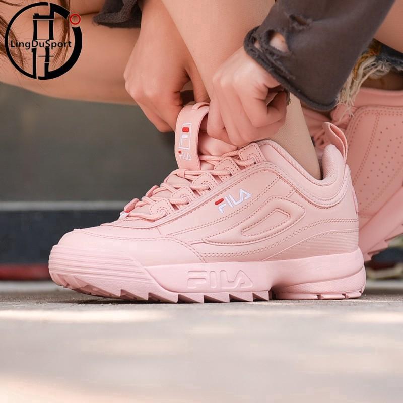 Fila DISRUPTOR 2 W รองเท้าวิ่งสีชมพู