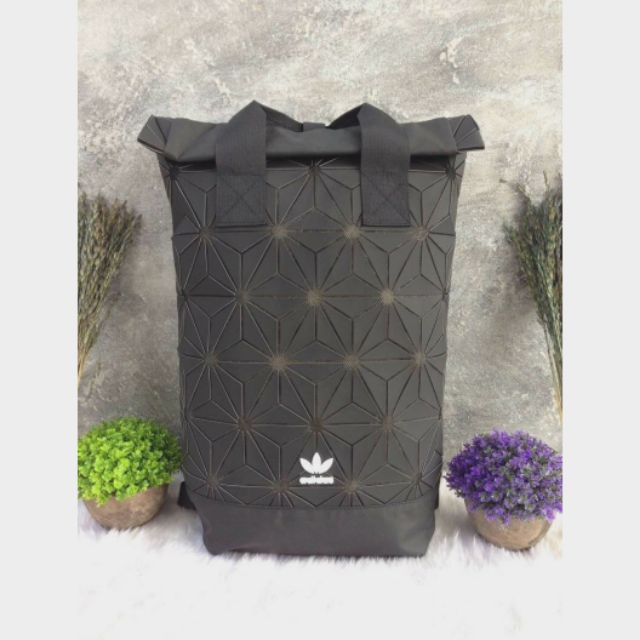 Adidas 3D Roll Top Backpack  ดำ
