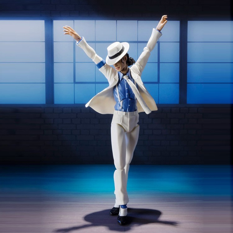 Male God Michl SHF Michael Jackson Smooth Criminal Moonwalk Anti-gravity Action Figure Model Toy Doll Garage Kit