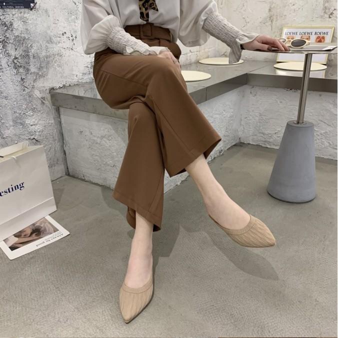 ส้นแบนหัวแหลม# ELLA22 รองเท้าพร้อมส่งในไทย รองเท้าคัชชู หัวแหลม รองเท้าแฟชั่น รองเท้าผู้หญิง รองเท้าส้นแบนเปิดส้น รองเท้