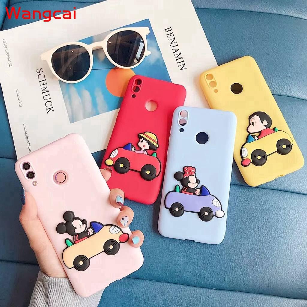Samsung Galaxy A7 A6 A6+ Plus A5 2018 2017 A9 Pro 2016 Case Mickey Minnie Crayon Shinchan Cute Cartoon Soft Case Cover