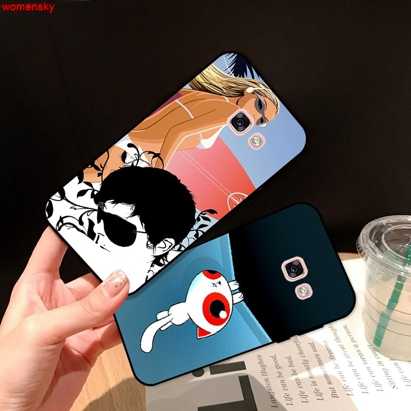 Samsung A3 A5 A6 A7 A8 A9 Pro Star Plus 2015 2016 2017 2018 Painted pattern-3 Silicon Case Cover