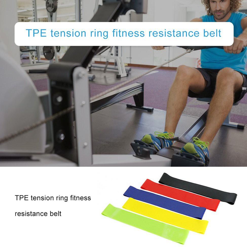 สายยางยืดออกกําลังกาย  TPE pull ring fitness resistance band yoga band pull rope resistance ring