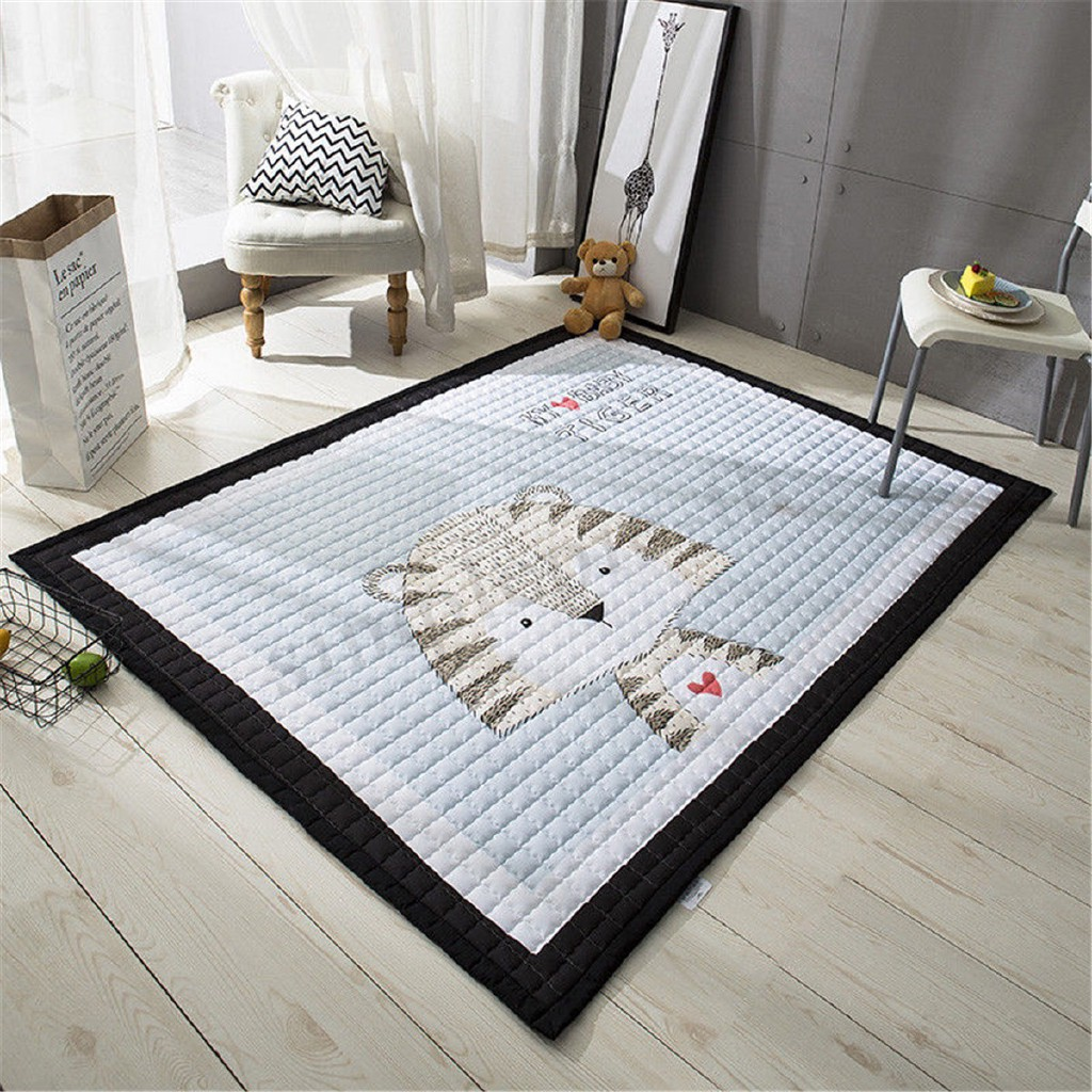 Cotton Soft Animal Baby Kids Gym Game Play Mat Crawling Rug Carpet Crawl Blanket
