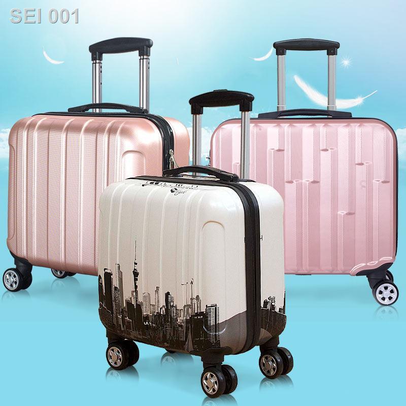 😍ลดราคา😍✒❏กล่องใส่เครื่องสำอางแบบพกพา 14 นิ้วกระเป๋าเดินทางขนาดเล็ก 18 นิ้วกระเป๋าเดินทางหญิงล้อสากลกระเป๋าล้อลาก 16