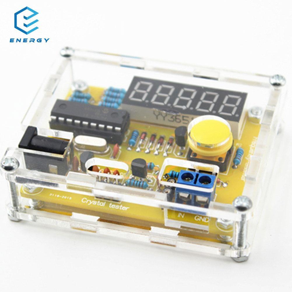 EGY อุปกรณ์เครื่องวัด 1Hz-50MHz Frequency Crystal Oscillator Meter w/Shell