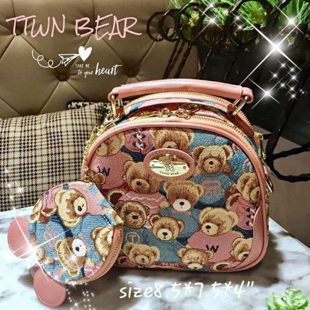 🧡กระเป๋าสะพาย กระเป๋าถือ TTWN BEAR 🧸ส่งฟรีไม่ต้องใช้โค้ด